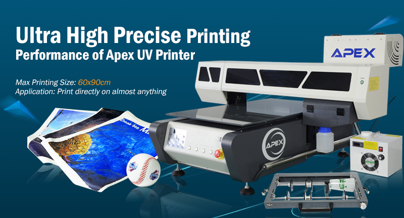Apex UV Printer, can print directly on almost anything