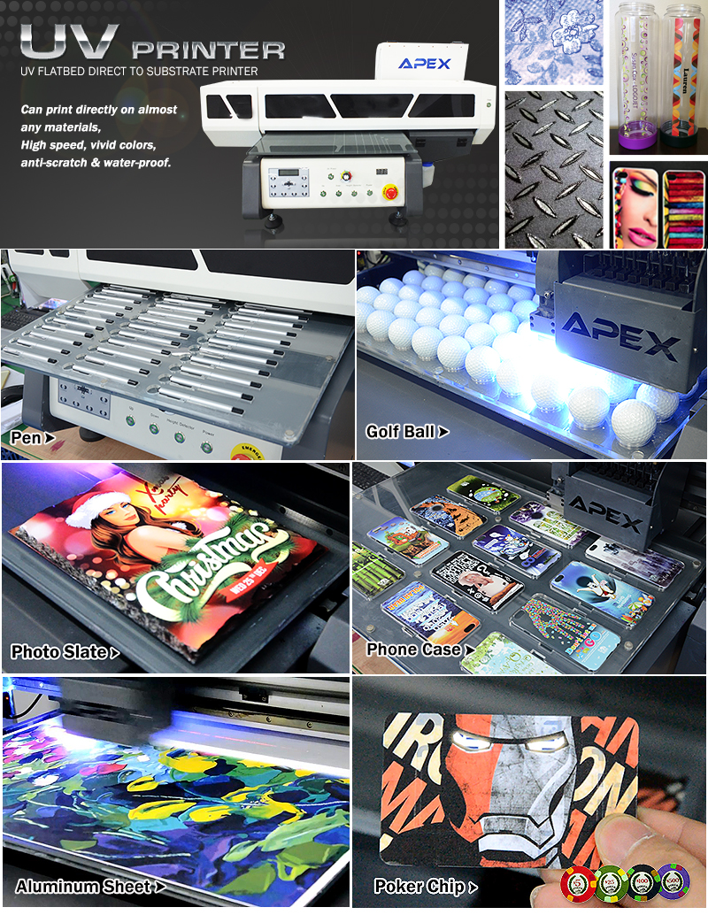 Color printing uw - For Pens Apex Digital Flatbed Uv Printer Allow To Print Photo Quality Multi Colors Photos Logos And Text Directly On Various Pens And Pen Clips