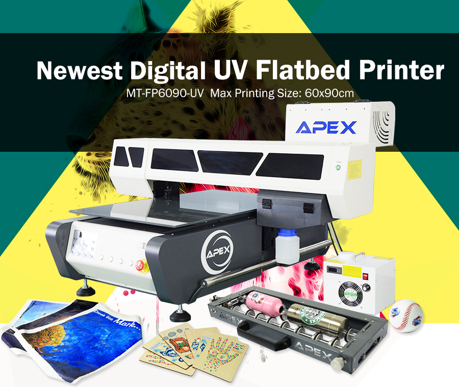 Digital Uv Flatbed Printer Uv6090 Apex Digital Flatbed