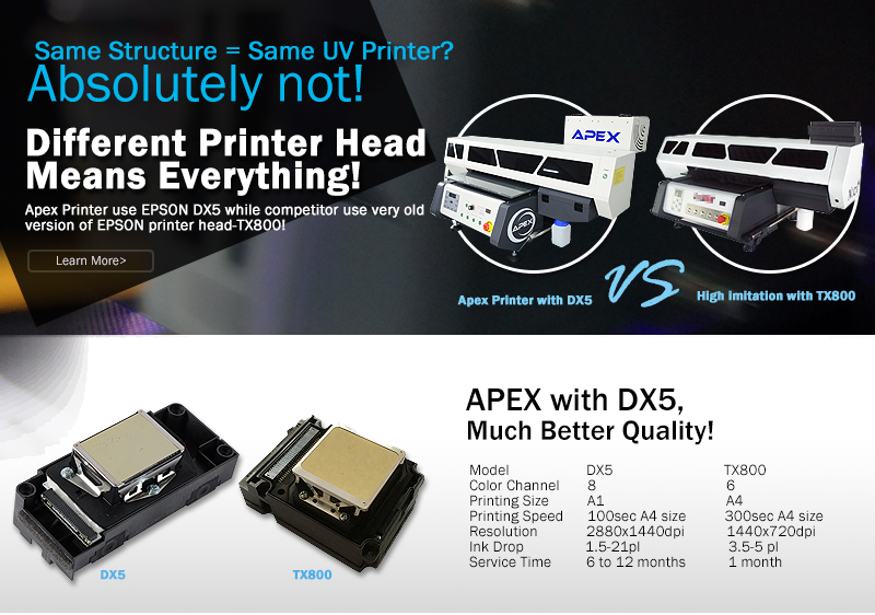 Same Structure means Same UV Printer? Absolutely not!