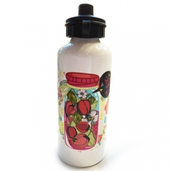China 600ml Aluminum Sport Bottle with pop-top cap factory