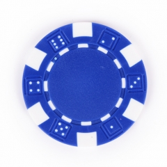 China Blue Composite 11.5g Poker Chip-Fabrik