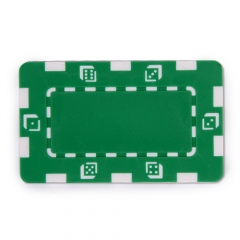 China Green Composite 32g Square Poker Chip factory