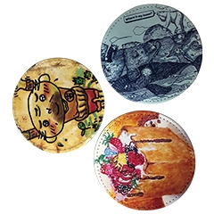 China Leather Coaster Printed by UV Printer factory