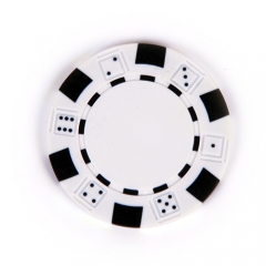 China White Composite 11.5g Poker Chip factory